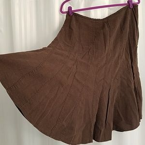 Larry Levine Skirts - Brown linen A-line Larry Levine skirt. 14